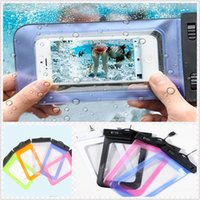 Wholesale Hot Waterproof Underwater Pouch Dry Bag PVC Samsung S4 S5 iphone6 Cases Clear View Cover Swimming Touchscreen Lanyard Phone Cases