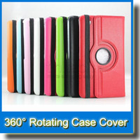P600 folio leather cover - 360 Degree Rotary Stand PU Leather Case for iPad mini Air Samsung Galaxy Tab S T700 T800 P3200 P5200 T230 T530 Note P600