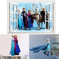 Wholesale Hot Selling Frozen Cartoon Princess Room Decal Decor Removable Vinyl Wall Stickers DIY Wallpaper CM