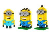 Wholesale Despicable Me Minion Types Diamond Building Blocks Set LOZ Blocks Action Figures Toys Education Toys Gift for Children