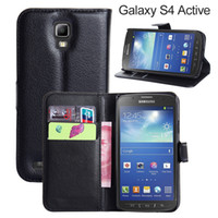 galaxy s4 active - Luxury Stand Wallet Genuine Leather Case For Samsung Galaxy S4 Active i9295 Note Edge S5 Sport Mega Leather Cover With Card Holder