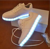 Wholesale 2016 New Colors Luminous Led Light Shoe Men Women Fashion USB Rechargeable Light Led Shoes For Adults Casual Shoes Size