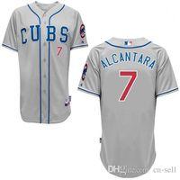 alcantara blue - 2015 New Chicago Cubs Arismendy Alcantara Jersey Throwback Customize Embroidery Stitched Shirt Grey Blue White Strip