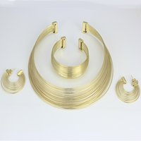 Others Trendy Women's Free shipping high quality fashion brand Costume Jewelry 18K plated Jewelry sets Necklace bracelet earrings