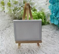 Wholesale sets Mini Display Easel WIth Canvas cm Wedding Table Numbers Painting Hobby