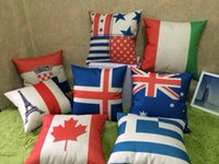 australia unions - US Union Jack France Italy Switzerland Scotland Germany Australia Canada Flag Home Decor cushion Linen cotton pillow