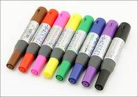 Precio de Sistemas de la pluma de madera-Nuevo marcador doble de la pintura del oli de la marca de fábrica 8colors / set Para el uso en papel, tela, madera, papel, vidrio, plástico, metal, vinilo, etc.