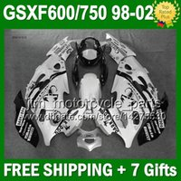 Wholesale 7gifts Fairing Pearl White For SUZUKI KATANA GSXF600 J6159 Scorpion black GSX750F GSXF