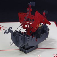 pop up greeting card - 3D Corsair Handmade Pop Up Card Greeting Gift Card in Red