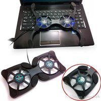 Wholesale Hot selling USB Mini Octopus Laptop Notebook Fan Cooler Cooling Pad With LED Light