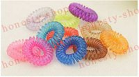 Wholesale Summer Fashion Telephone Line Gum Elastic Hair Band For Girl Rope candy color fashion Tie Hair Accessory Maker Tools