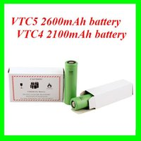 Wholesale E cigarette battery vtc4 vtc3 battery vtc5 A grade battery mAh V rechargeable So ny VTC lithium battery DHL