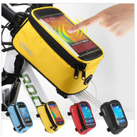 Wholesale Waterproof Outdoor Cycling Mountain Bike Bicycle Bag Frame Front Tube Bag Panniers Touch Screen Phone Case quot quot quot