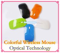 Wholesale 2 GHz Wireless optical mouse Cordless Scroll Computer PC Mice with USB Dongle various color gaming mice m range DD12