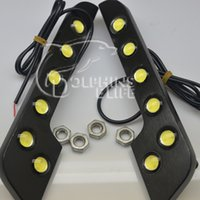 Cheap 2014 parking 2 pcs new 6 led universal car auto driving lamp styling daytime running light super bright free shipping
