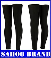 Wholesale New SAHOO Team black Cycling Bike Outdoors Sports Leg Warmers High Elastic Cycling Leg Sleeve for Men s Women