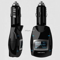 MP3 / MP4 Player bentley lighters - Mini Car Kit MP3 Transmitter Cigarette Lighter Plug In Player mm Audio LCD Screen w USB SD MMC TF Card Charging Remote Control Black