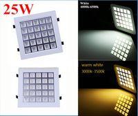 Wholesale DHL w square recessed Led ceiling light Led grille light Led lattice light
