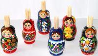 babushka matryoshka - Toothpick Holders Matryoshka Babushka Russian Dolls Home Decor Tableware