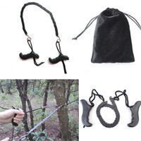 Wholesale 95cm Long Pocket Chain Saw Hand Saw Carbon steel Chain Outdoor Survival Tool Camping Hiking Supplies