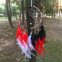 Wholesale New fashion gift Hot Chinese kung fu tai chi Dreamcatcher Wind Chimes Indian Style Feather Pendant Dream Catcher Gift