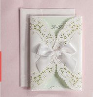 Wholesale 2016 New Arrival WISHMADE customized wedding invitation card white personalized inner sheet invitations with envelope