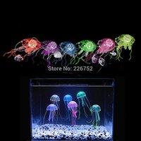 Wholesale 5pcs Tank Ornament Swim Glowing Effect Aquarium Artificial Jellyfish Ornament Fish Tank Decoration Color Random