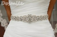 Wholesale 2016 Crystal sashes for wedding Bridal Rhinestone Belt Wedding Accessories Beaded Sash