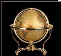 beijing globe - High Quality Beijing New cm Royal Court Brass Standard Map Home Office Living room Hotel Decorations Earth Globe The World European Style