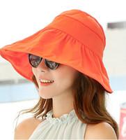 Wholesale New Summer Women s Foldable Wide Large Brim Beach Sun Hat Beach Cap For Ladies Elegant Hats Womens Vacation Tour Hat