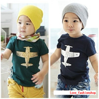 t shirts manufacturer - Summer Korean children s clothing children s T shirt printing aircraft boys more girls clothing manufacturers