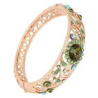 ancient technology - Cloisonne national wind restoring ancient ways ms technology green bracelet k gold crystal diamond bracelet with exquisite box