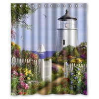 beautiful scenic pictures - Classic Floral Bath Curtain Print Beautiful Lighthouse Scenery Picture Custom Shower Curtain quot x quot