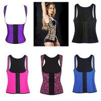 achat en gros de caoutchouc respirante-Tissu respirant Shapewear latex sport Waist Baskets Vest Rubber Acier Désossé Body Shaper Underbust corset épaule 6 styles C8484