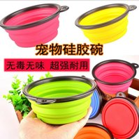 Wholesale Pet Dog Portable Bowl Pet Dog Cat Portable Bowls Feeders Collapsible Bowl Travel Feeding Water Dish Feeder Pet Travel Supplies DDA3351