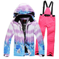 bear polar jacket - snowboard women skiing clothing ski suit set waterproof amp windproof thermal polar bear jackets and pants for women