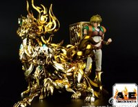 ae tv - In Stock AE Saint Seiya EX God Leo Aiolia Metal Armor Myth Cloth Gold Ex Action Figure Toy Model Christmas Gift