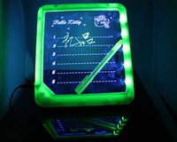 led writing board - LED Message Board Erasable Electronic Fluorescent Writing Board LED Advertising Board Whiteboards