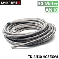 Wholesale Tansky AN AN mm quot m Stainless Steel Fuel Oil Gas Braided Hose Line TK AN10 HOSE30M