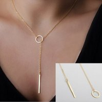 Wholesale Dainty Minimalist Circle Bar Necklace Lariat and earring Birthday Gift new Hot Selling YP0071