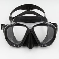 Wholesale Diving Mask Scuba Diving Free Diving Snorkeling Mask Adults Flexible Silicone Tempered Glass Lens For Comfort Clarity And Durability