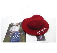 america jazz - Europe and America Spring winter wild imitation wool hat large brimmed hat British retro jazz hat lady