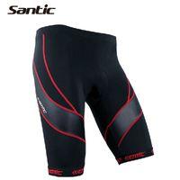 bib culotte - Good Quality Santic Colors Cycling Bib Shorts D Coolmax Pad MTB Road Bib Underwear Chinlon Culotte Ciclismo Size S XXXL