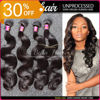 Body Wave cheap hair - Huaman Hair Weave Brazilian Virgin Hair Bundles Body Wave Hair Weaves Weft Cheap Hair Extensions Malaysia Peruvian Indian Double Weft PC A