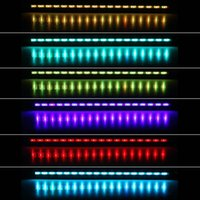 Wholesale 46cm W LEDs Bubble Aquarium Light Degree RGB Colors IP68 Submersible Remote Control Fish Tank LED Light Bar H15110