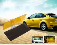 Wholesale New Car Sunshade Including mirrors As a Set Anti Glare Dazzling Goggle Day Night HD Vision Driving Mirror Sun Visor C266 With Retail Box
