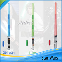 Wholesale Star Wars Weapons kids toys lightsaber Boys Toys Star Wars attachable lightsaber adult fans gifts cosplay