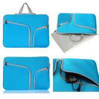 Wholesale 1pc double zipper design portable Laptop bag for inch inch inch macbook pro Macbook Air mackbook pro retina dhl