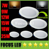 """Cheap Dimmable 4"""" 4.5"""" 5.5"""" 7"""" 7.5"""" SMD5730 7W 9W 12W 15W 18W 25W LED Panel Lights Downlights Warm Cool Fixture Recessed Ceiling Down Lights Lamps"""