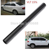 auto window tints - 50cm X cm Car Window Tint Film Black Roll PLY Auto House Commercial Tinting